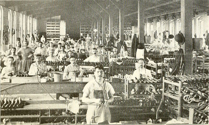 British shoes - A 'modern' Shoe Factory in 1887