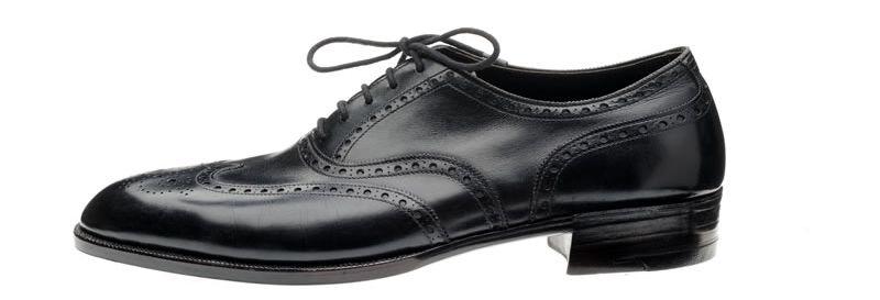 Explore England British shoes - A pair of John Lobb Ltd bespoke full brouge Oxfords