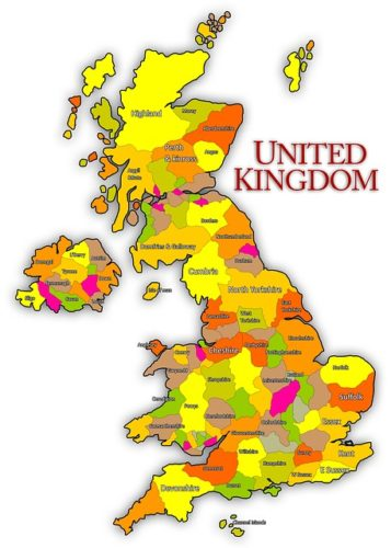 About explore england map of the UK